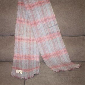 Handwoven Donegal Irish Mohair Wool Plaid Scarf